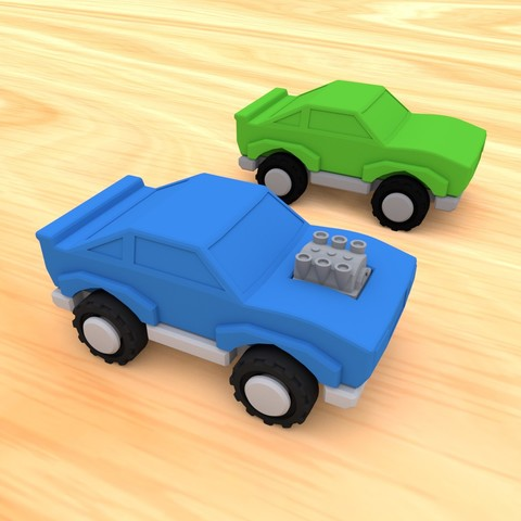 smalltoys-carspack04.jpg Download STL file SmallToys - Cars pack • 3D print design, Wabby