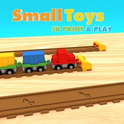 3d printer designs SmallToys - Railways - Bumper stop, Wabby