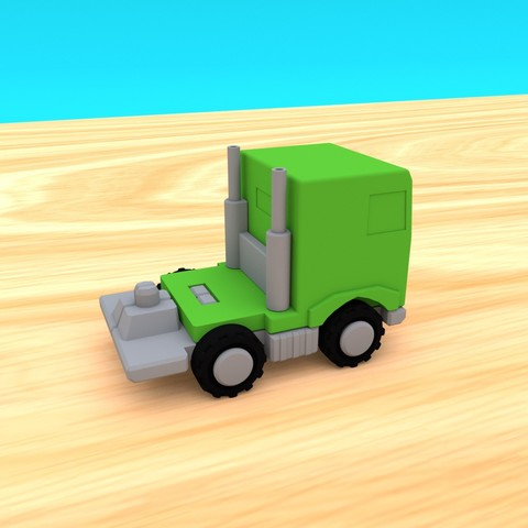 SmallToys-EuropeanTruck02.jpg Download STL file SmallToys - Trucks and trailers pack • Design to 3D print, Wabby