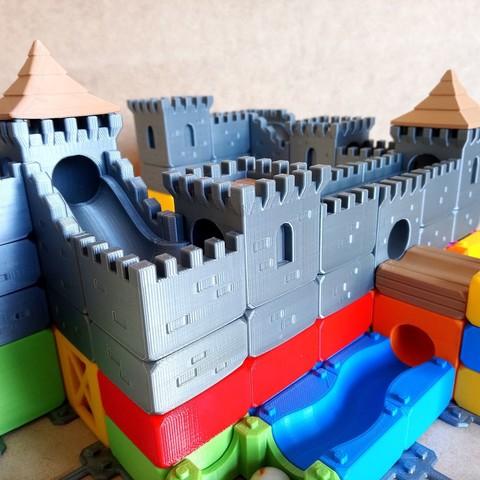 MarbleRunBlocks-MedievalCastlePack02.jpg Download STL file Marble Run Blocks - Medieval Castle pack • 3D printable template, Wabby