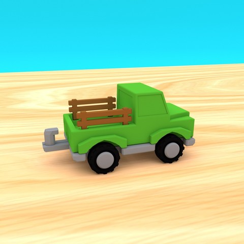 smalltoys-ShortTruckTrailer02.jpg Download STL file SmallToys - Trucks and trailers pack • Design to 3D print, Wabby