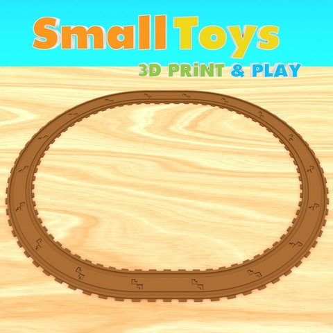 STL files SmallToys - Railways - straight and curved, Wabby