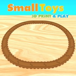 smalltoys-traintracks-straight-curved01.jpg Download STL file SmallToys - Railways - straight and curved • 3D printable design, Wabby
