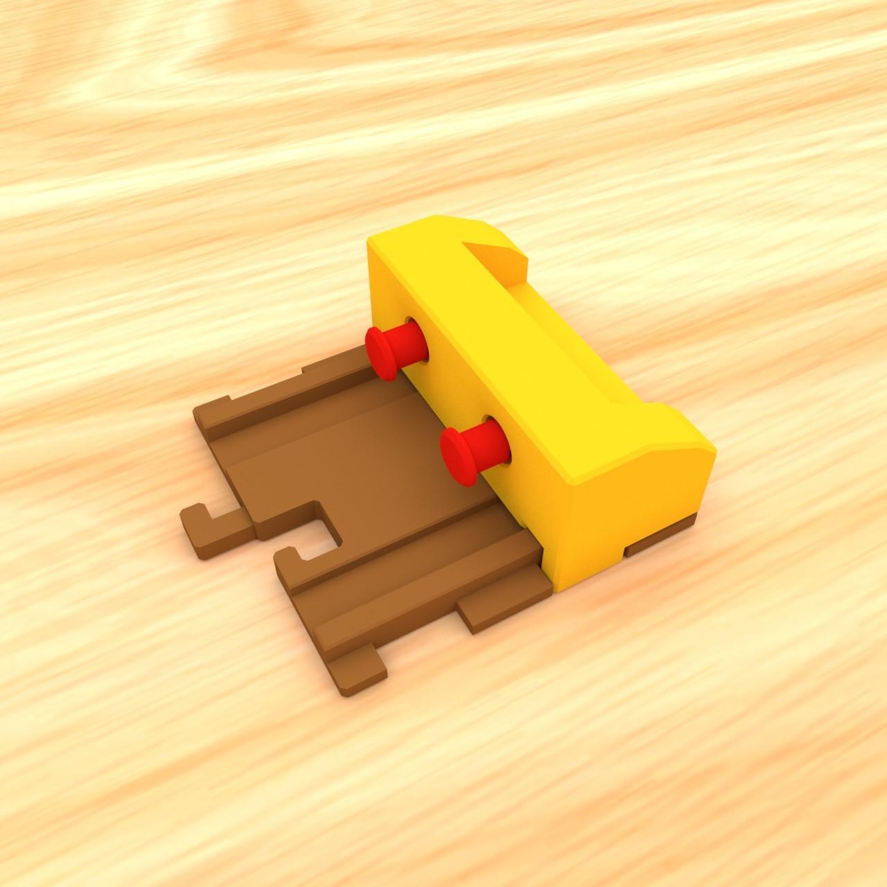 smalltoys-trainEndBumper02.jpg Download STL file SmallToys - Railways - Bumper stop • 3D printable model, Wabby
