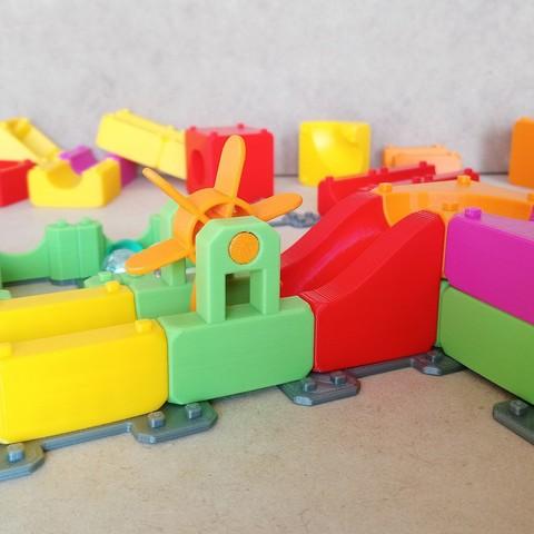 MarbleRunBlocks-ExtensionPack01.jpg Download STL file Marble Run Blocks - Extension pack • 3D printing design, Wabby