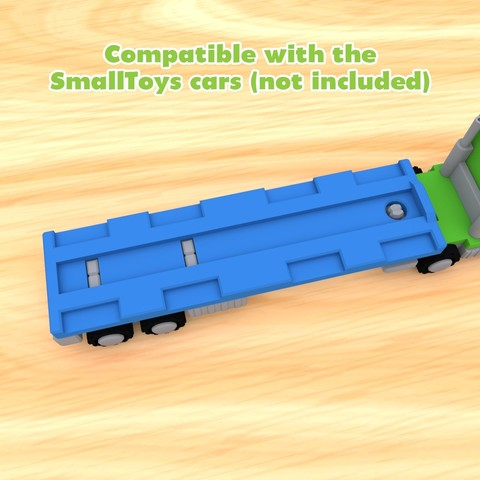 SmallToys-EuropeanTruck03.jpg Download STL file SmallToys - Trucks and trailers pack • Design to 3D print, Wabby
