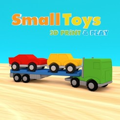 stl SmallToys - European Truck and Car Trailer, Wabby