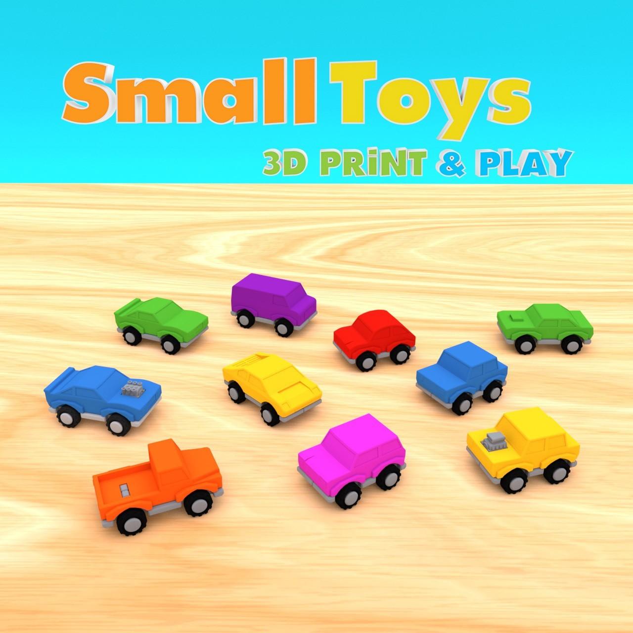 smalltoys-carspack01.jpg Download STL file SmallToys - Cars pack • 3D print design, Wabby