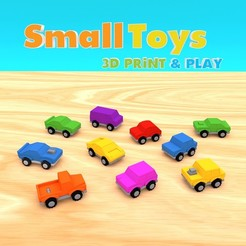 smalltoys-carspack01.jpg Download STL file SmallToys - Cars pack • 3D print design, Wabby