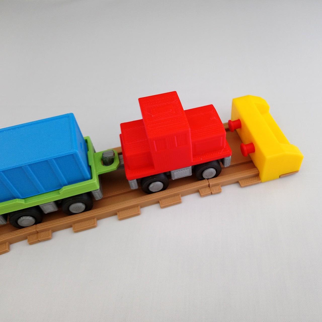 smalltoys-trainEndBumper03.jpg Download STL file SmallToys - Railways - Bumper stop • 3D printable model, Wabby