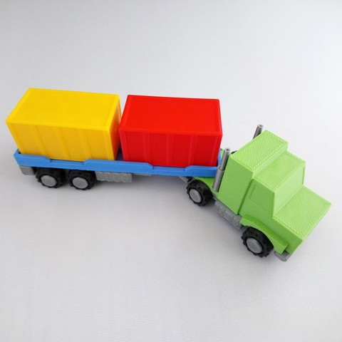 SmallToys-AmericanTruck04.jpg Download STL file SmallToys - Trucks and trailers pack • Design to 3D print, Wabby