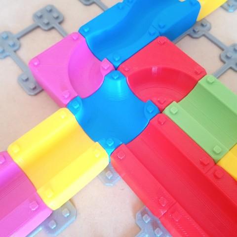 MarbleRunBlocks-ExtensionPack04.jpg Download STL file Marble Run Blocks - Extension pack • 3D printing design, Wabby