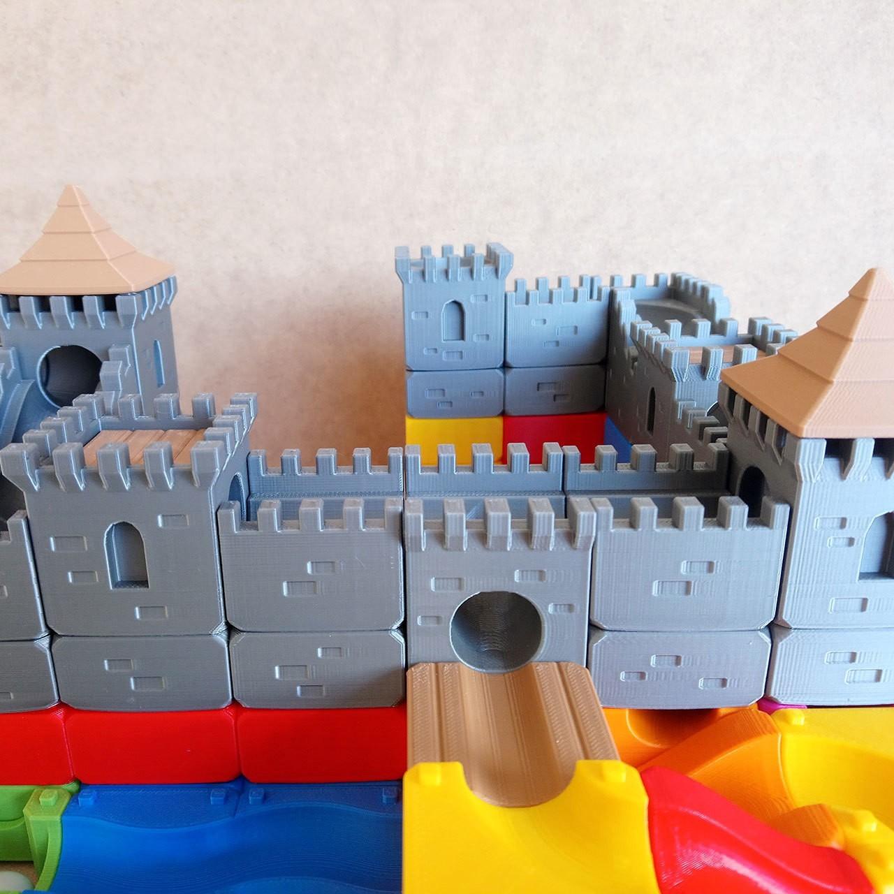 MarbleRunBlocks-MedievalCastlePack04.jpg Download STL file Marble Run Blocks - Medieval Castle pack • 3D printable template, Wabby