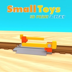 stl files SmallToys - Railway tracks - Level crossing, Wabby