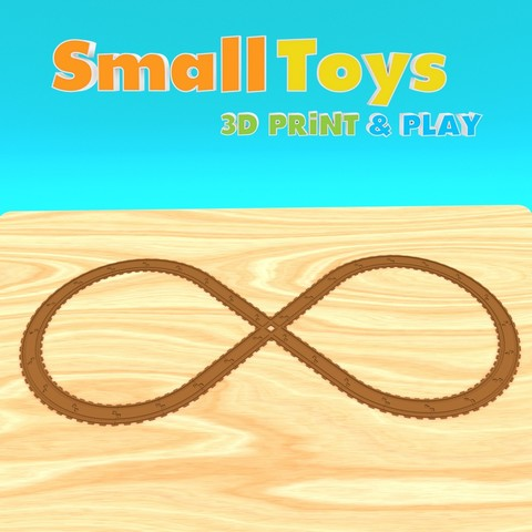 Download 3D printing templates SmallToys - Railways - Crossing, Wabby