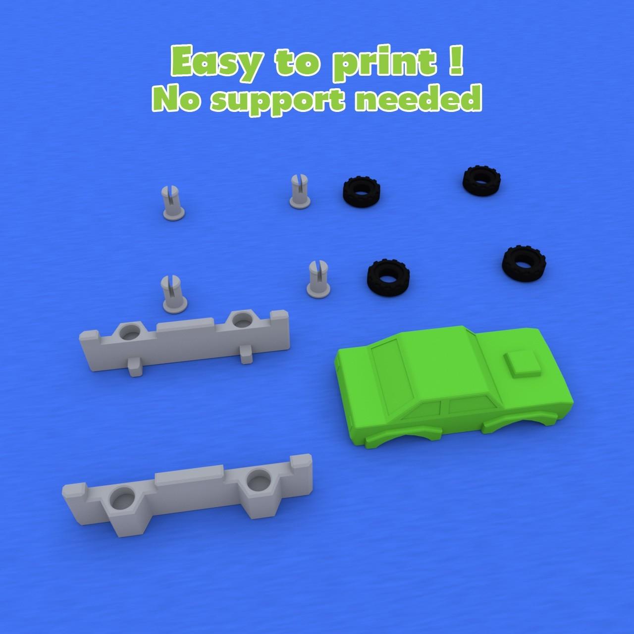 smalltoys-samplecar04.jpg Download STL file SmallToys - Cars pack • 3D print design, Wabby