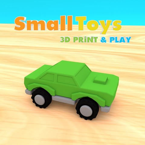 Download STL file SmallToys - Sample Car, Wabby