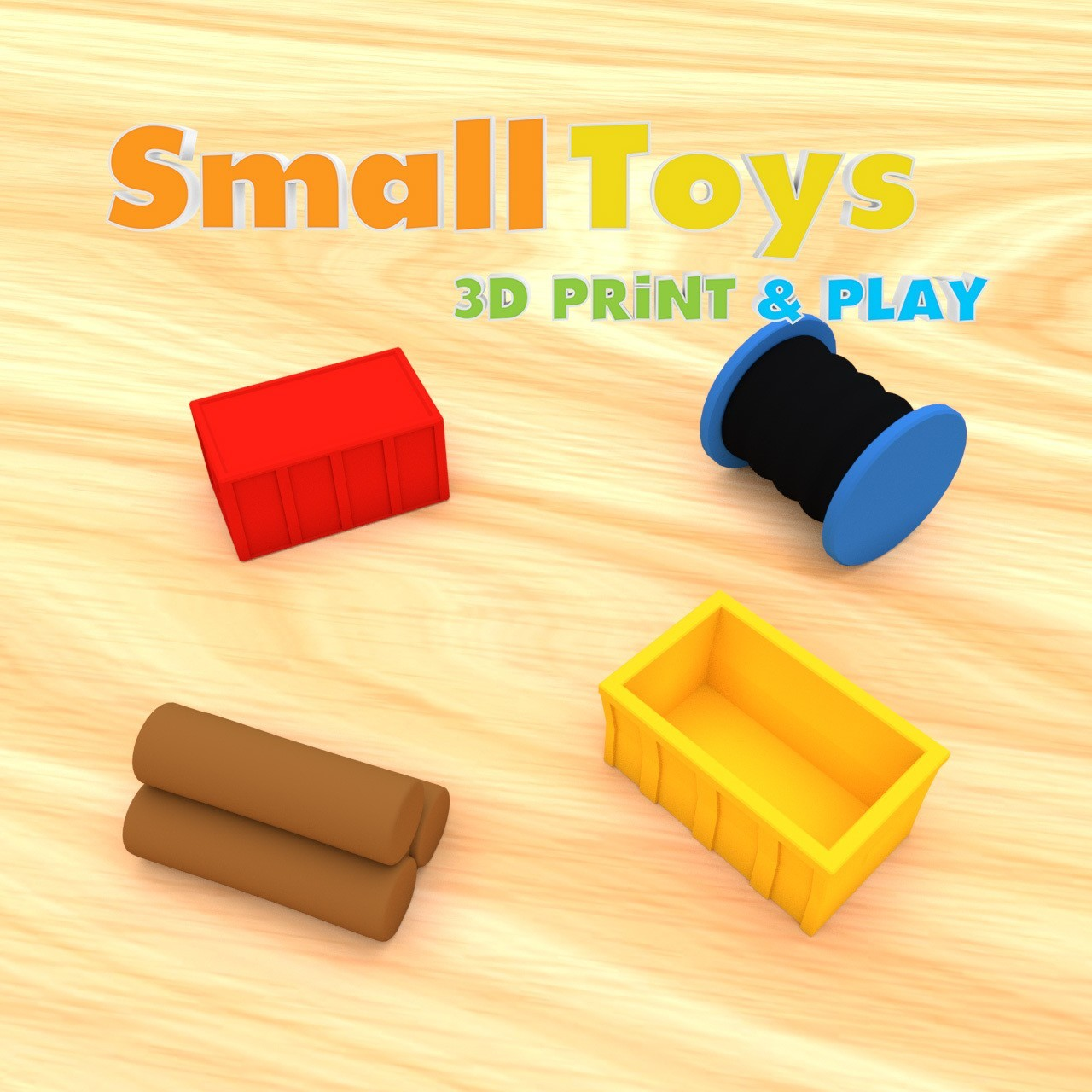 smalltoys-freight-accessories01.jpg Download free STL file SmallToys - Freight Accessories • 3D print template, Wabby