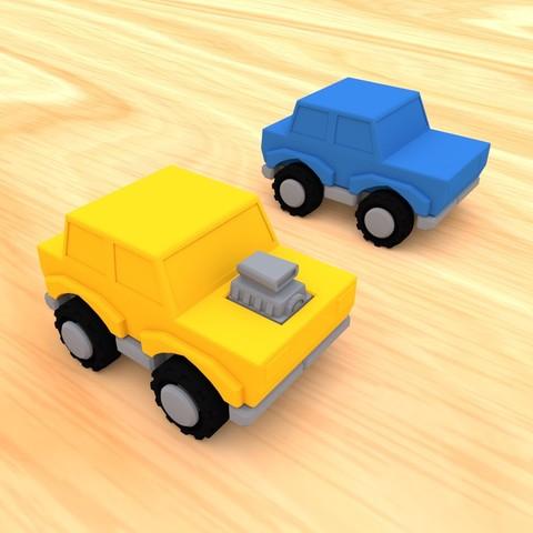 smalltoys-carspack06.jpg Download STL file SmallToys - Cars pack • 3D print design, Wabby