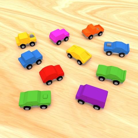 smalltoys-carspack02.jpg Download STL file SmallToys - Cars pack • 3D print design, Wabby