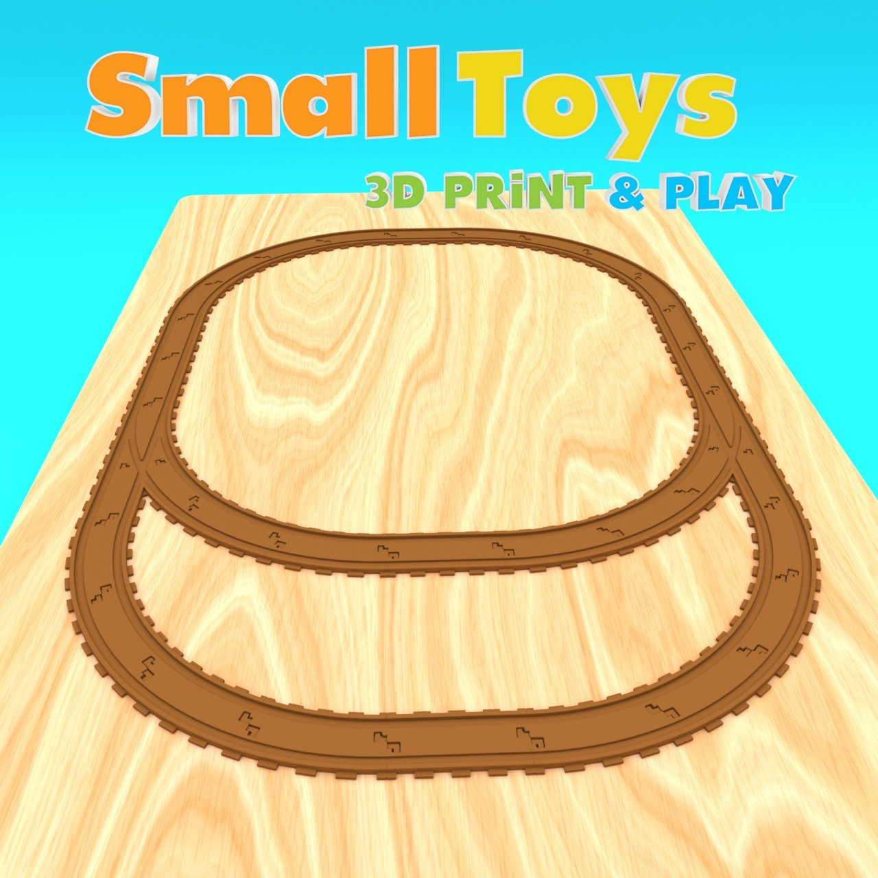 smalltoys-trainswitches01.jpg Download STL file SmallToys - Railway tracks - Switches • 3D print design, Wabby
