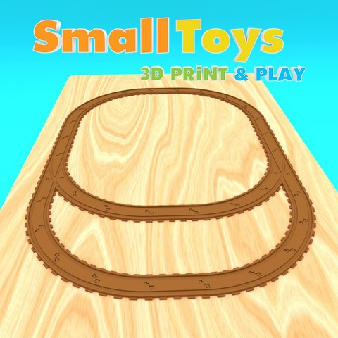 3D print model SmallToys - Railway tracks - Switches, Wabby