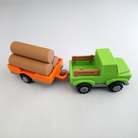 smalltoys-ShortTruckTrailer05.jpg Download STL file SmallToys - Trucks and trailers pack • Design to 3D print, Wabby