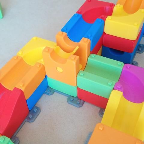 MarbleRunBlocks-ExtensionPack03.jpg Download STL file Marble Run Blocks - Extension pack • 3D printing design, Wabby