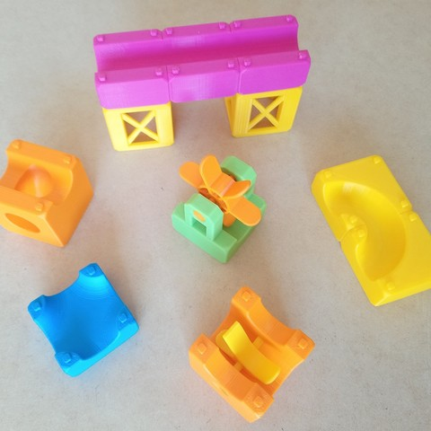 MarbleRunBlocks-ExtensionPack05.jpg Download STL file Marble Run Blocks - Extension pack • 3D printing design, Wabby