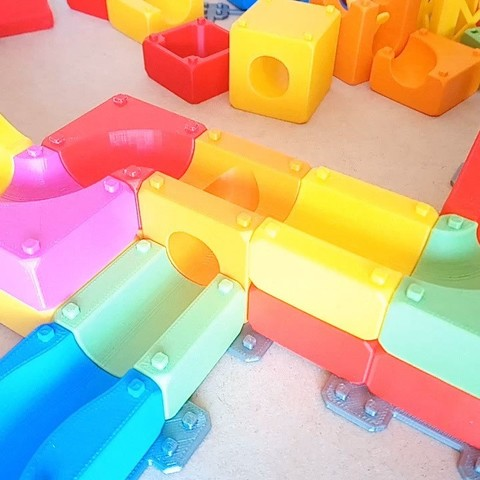 MarbleRunBlocks-ExtensionPack06.jpg Download STL file Marble Run Blocks - Extension pack • 3D printing design, Wabby