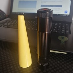 Download free 3D printing designs Flashlight cone, Ginesor