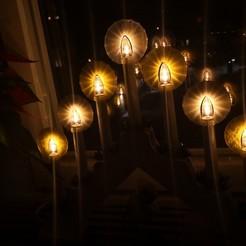Archivos STL gratis Halo para candelabros eléctricos de Adviento o luces de árbol de Navidad, Sajmonn