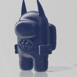 render.png Download free STL file Among Us - Batman • Template to 3D print, Chamunizu