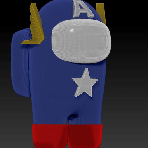 among_us_america.png Download free STL file Among Us - Captain America • 3D print design, Chamunizu