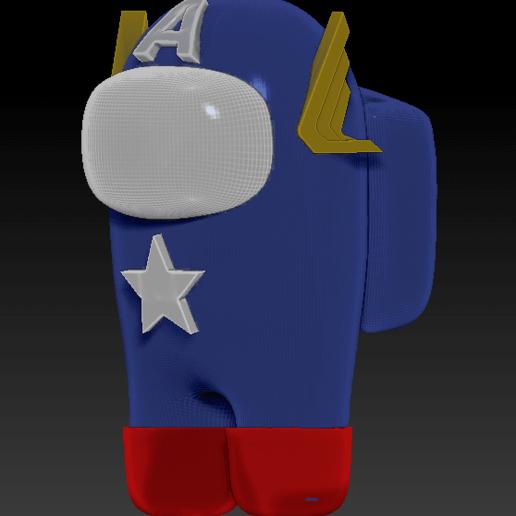 among_us_america_l.png Download free STL file Among Us - Captain America • 3D print design, Chamunizu