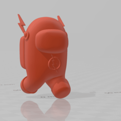 among_us_flash_r.png Download free STL file Among Us - Flash • 3D printable template, Chamunizu