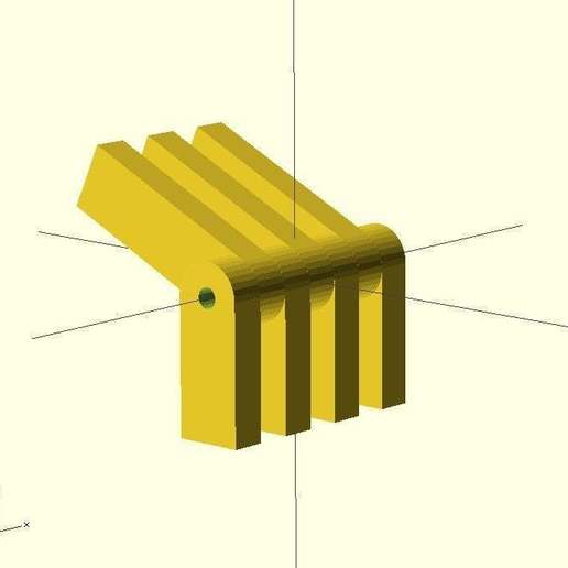 Download free SCAD file Hinge for scad • 3D printable template, EddyMI3D
