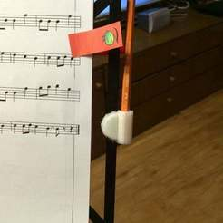 Download free STL Pencilholder for K&M music stand, EddyMI3D