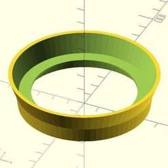 Download free 3D printer model Non-Dairy Creamer Jar Stacker Ring, EddyMI3D