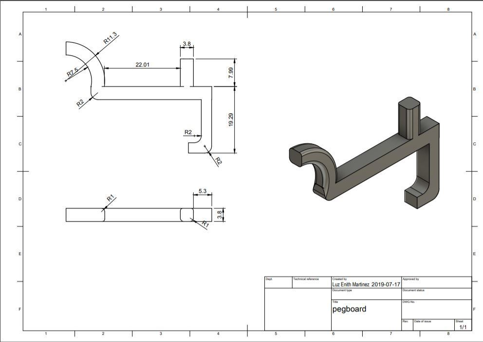 Hook Drawing.JPG Download free STL file Pegboard hooks • Model to 3D print, 3D_Maniac