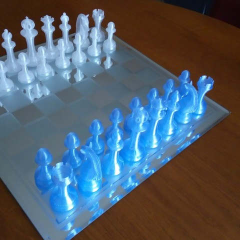 Free 3D printer designs Chessboard Pieces, Algernon