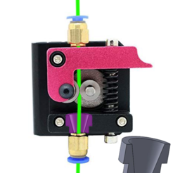 Download free 3D printing files filament guide on extruder, Algernon