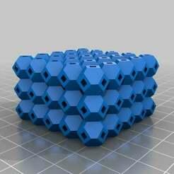 antiwarping_block_v2_20140326-13178-16jz420-0.jpg Download free STL file My Customized Anti-Warping Block, Truncated Octahedrons • Design to 3D print, se7en