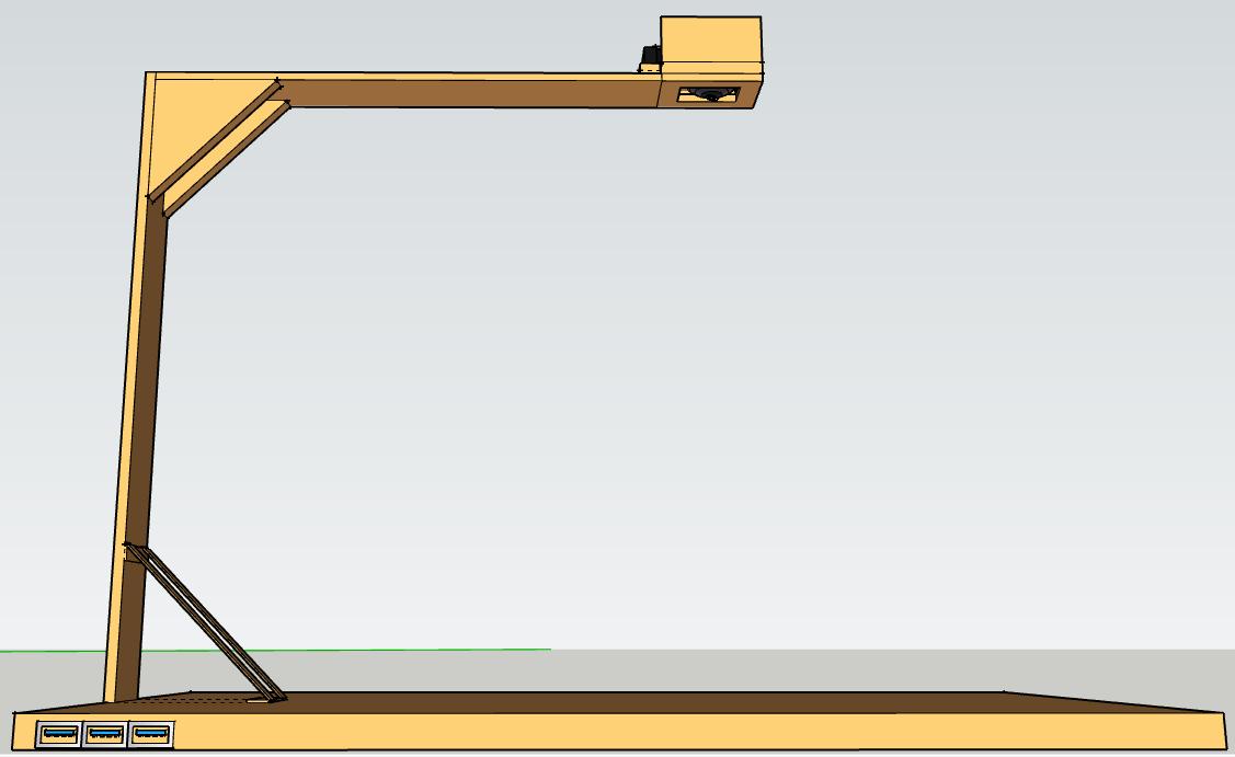 sketch up portable visualiser.PNG Download free STL file SCHOOL VISUALIZER- Lycée Jean Mermoz • 3D printable design, Merrua