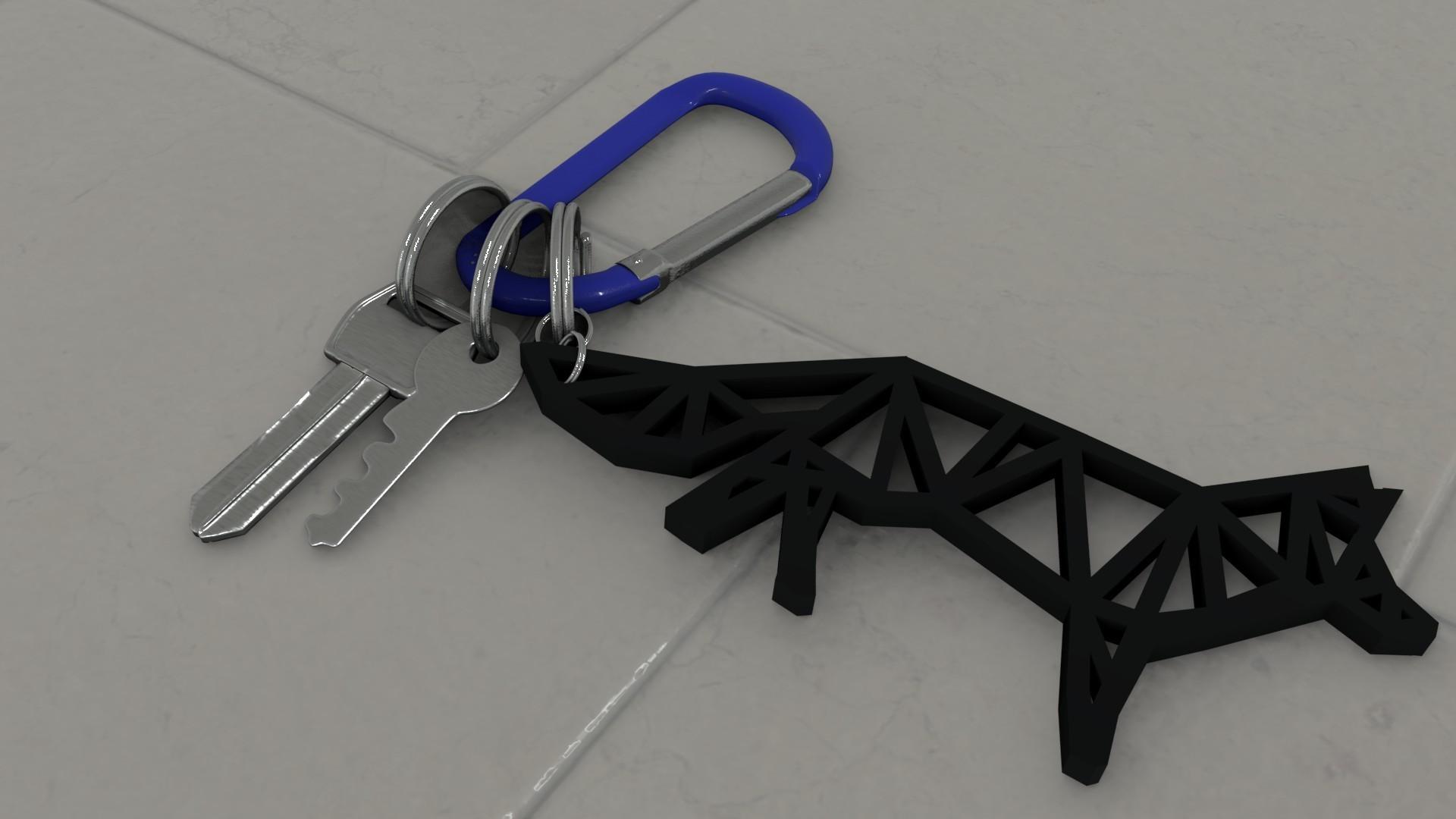 keychain~12.jpg Télécharger fichier STL gratuit Fox keychain design /  porte clésRenard design • Modèle pour impression 3D, Dawani_3D