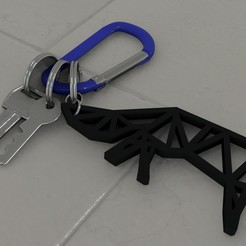 Download free 3D printing files Fox keychain design / key ringFox keychain design, Dawani_3D