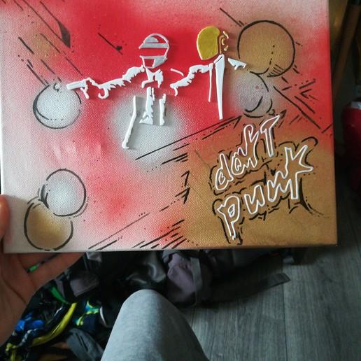 Download free 3D printing templates Daft punk for painting, Dawani_3D