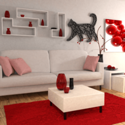 Download free 3D printing files Cat for board / key ring / pendant, Dawani_3D