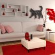 Télécharger fichier impression 3D gratuit Chat pour tableau / porte clés/ pendentif, Dawani_3D