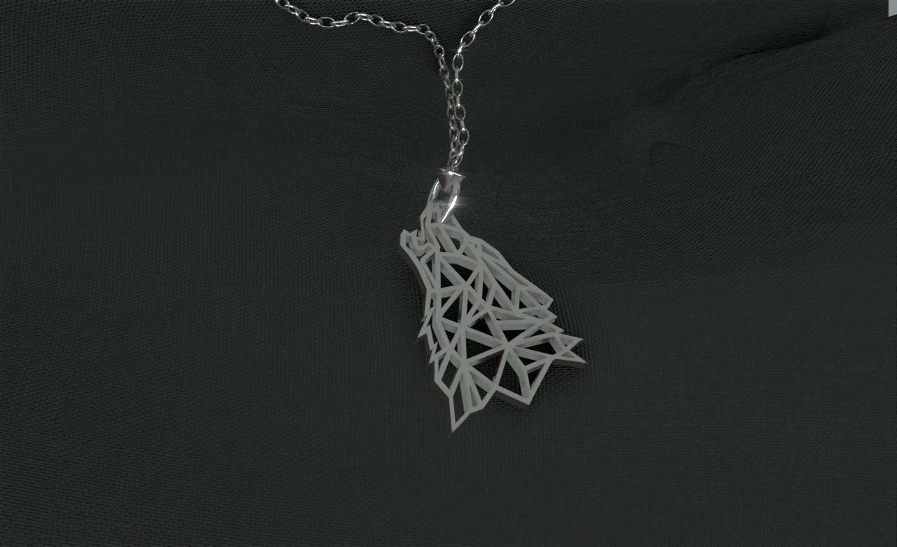 necklace~6.jpg Télécharger fichier STL gratuit Pendentif Loup • Objet pour imprimante 3D, Dawani_3D